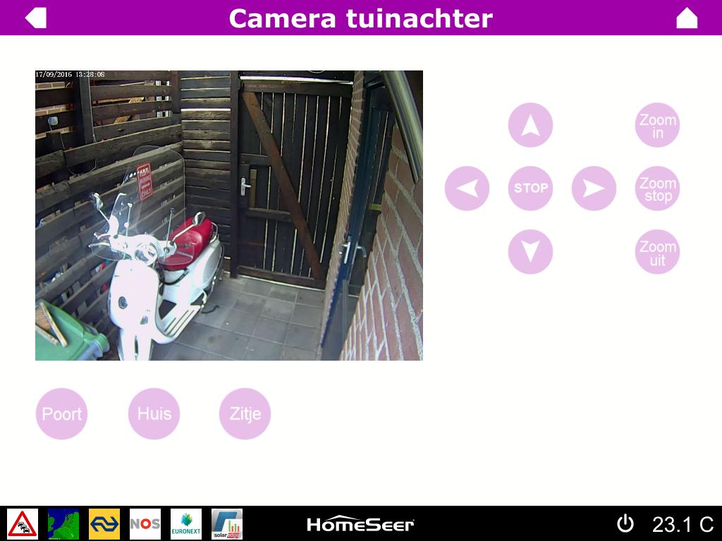HSTouch scherm camera